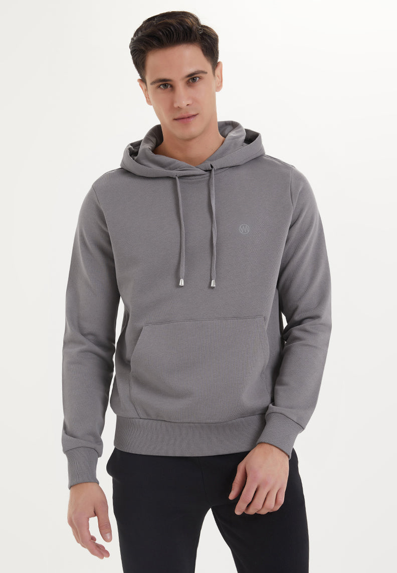 ESSENTIALS HOODIE in Charcoal Grey