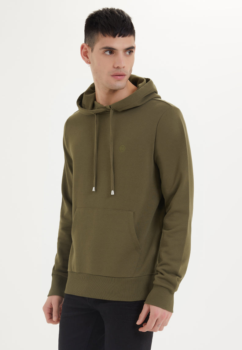 ESSENTIALS HOODIE in Dark Olive