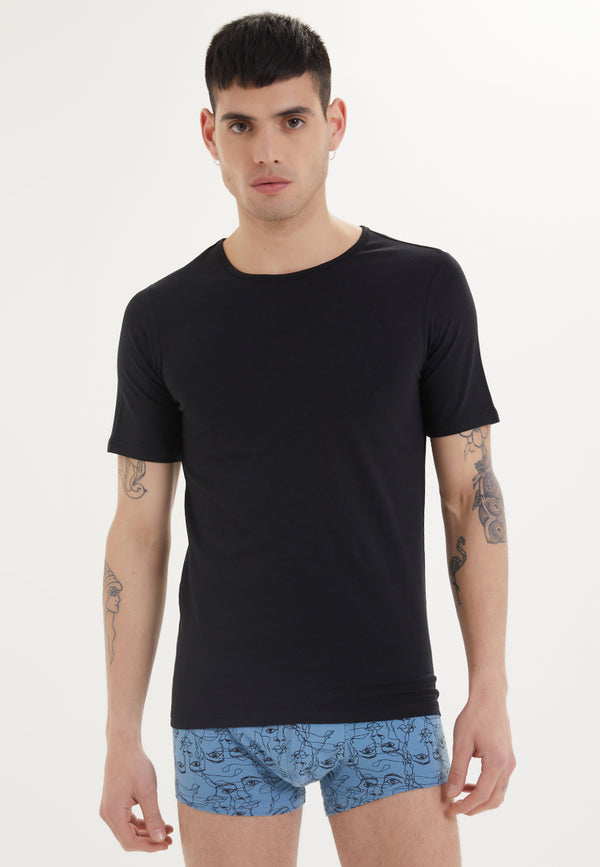 SHIRTS O-NECK in  Black