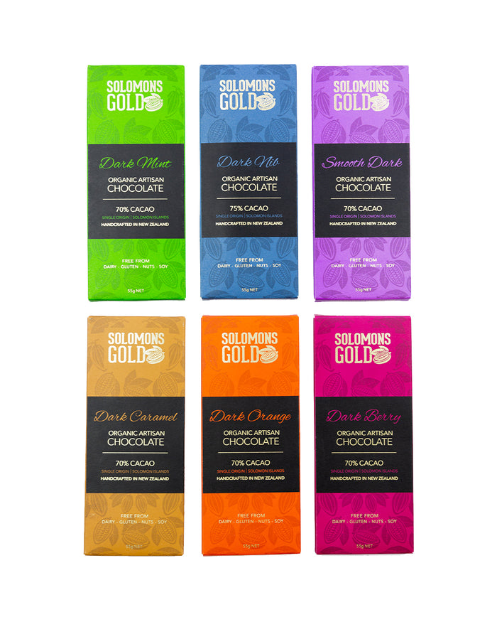 Solomons Gold Classic Dark Chocolate Range