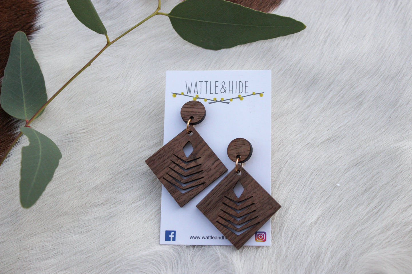 Wooden Earrings - WE001
