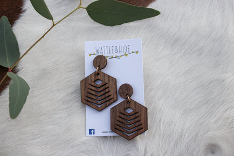 Wooden Earrings - WE002
