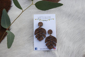 Wooden Earrings - WE003