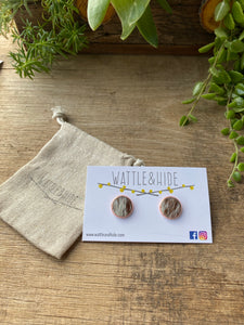 Cowhide Studs 15mm Rose Gold - CHSJ013