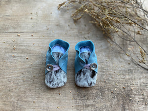 Handmade Soft Sole Leather Baby Booties