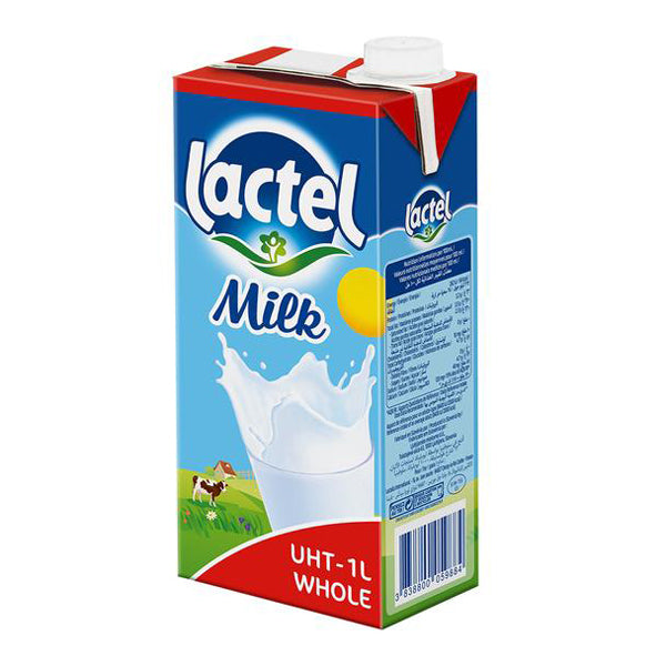 French UHT Whole Milk Lactel (1L)