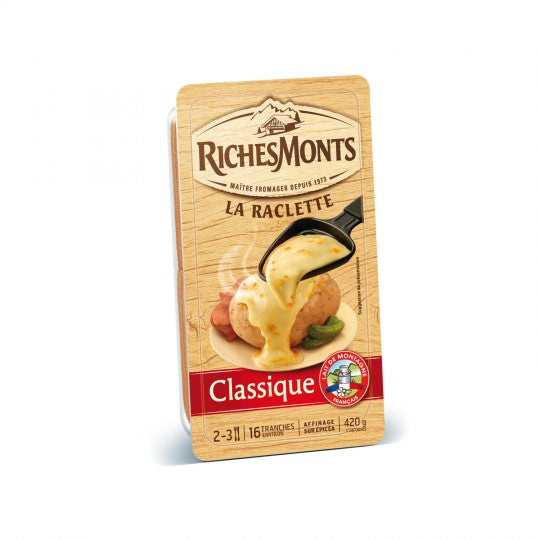 RICHES MONTS Classic Raclette Cheese 16 Slices (420g)