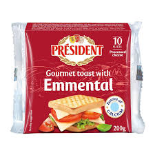 President Emmental Cheese Slices (200g)