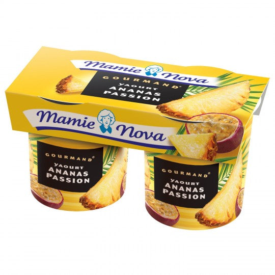 Mamie Nova Pineapple & Passion Fruit Yoghurt (2x150g)