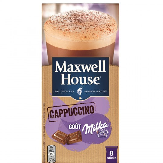 Soluble Coffee Cappuccino Taste Milka (8 sticks of 22g)