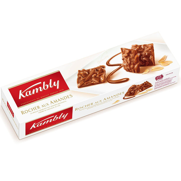 KAMBLY - Crunchy biscuits with almond, coated with milk chocolate.