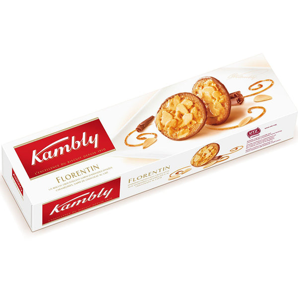 KAMBLY - Caramelized Almond and Swiss Milk Chocolate Biscuits