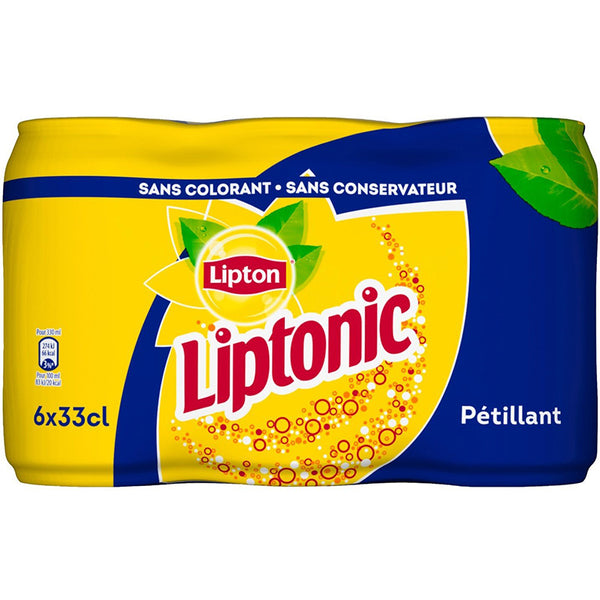 Sparkling Iced Lime Tea Liptonic Lipton (6x330ml)
