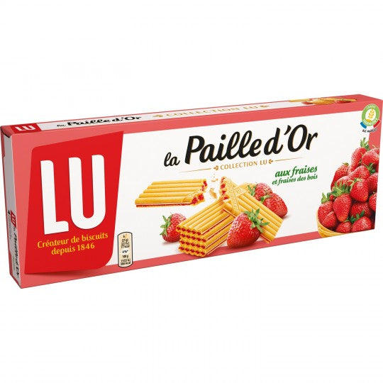 Strawberry Waffle Biscuits La Paille D'Or (170g)
