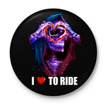I Love To Ride Button Badge