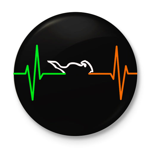 Nation's Heartbeat Button Badge