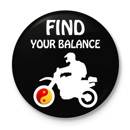 Find Your Balance Button Badge