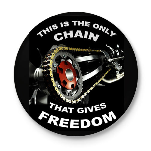 Chain Of Freedom Button Badge