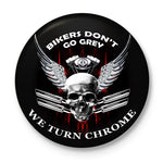 Bikers Turn Chrome Button Badge