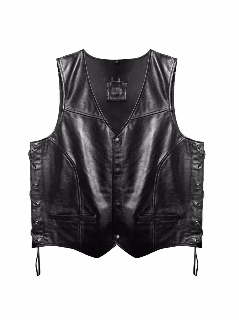 Leather Vest- Men