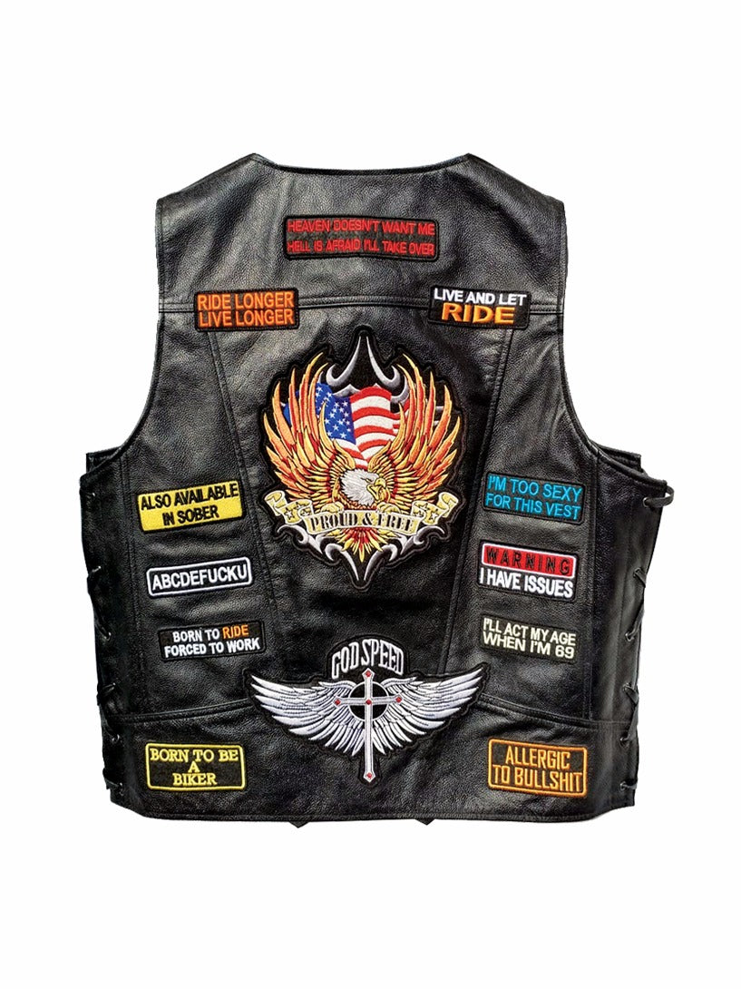 Patched Up Vest- Men