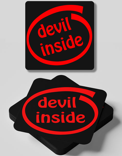 Devil Inside- 4 Coasters Set