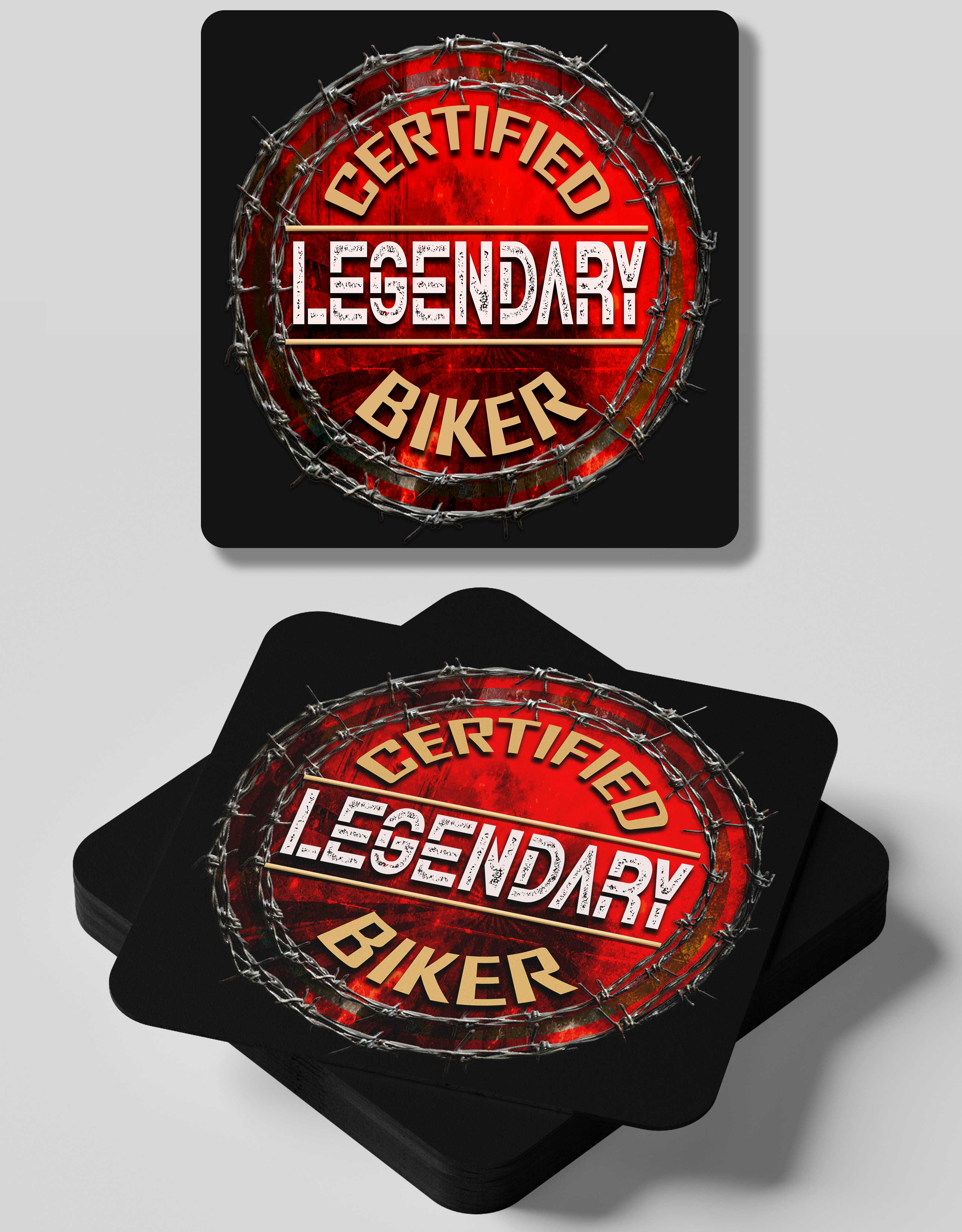 Certified Legend- 4 Coasters Set