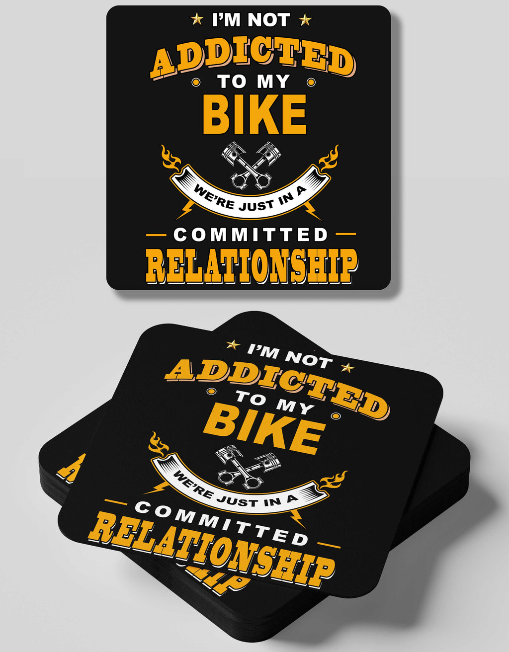 Committed Relationship - 4 Coasters Set