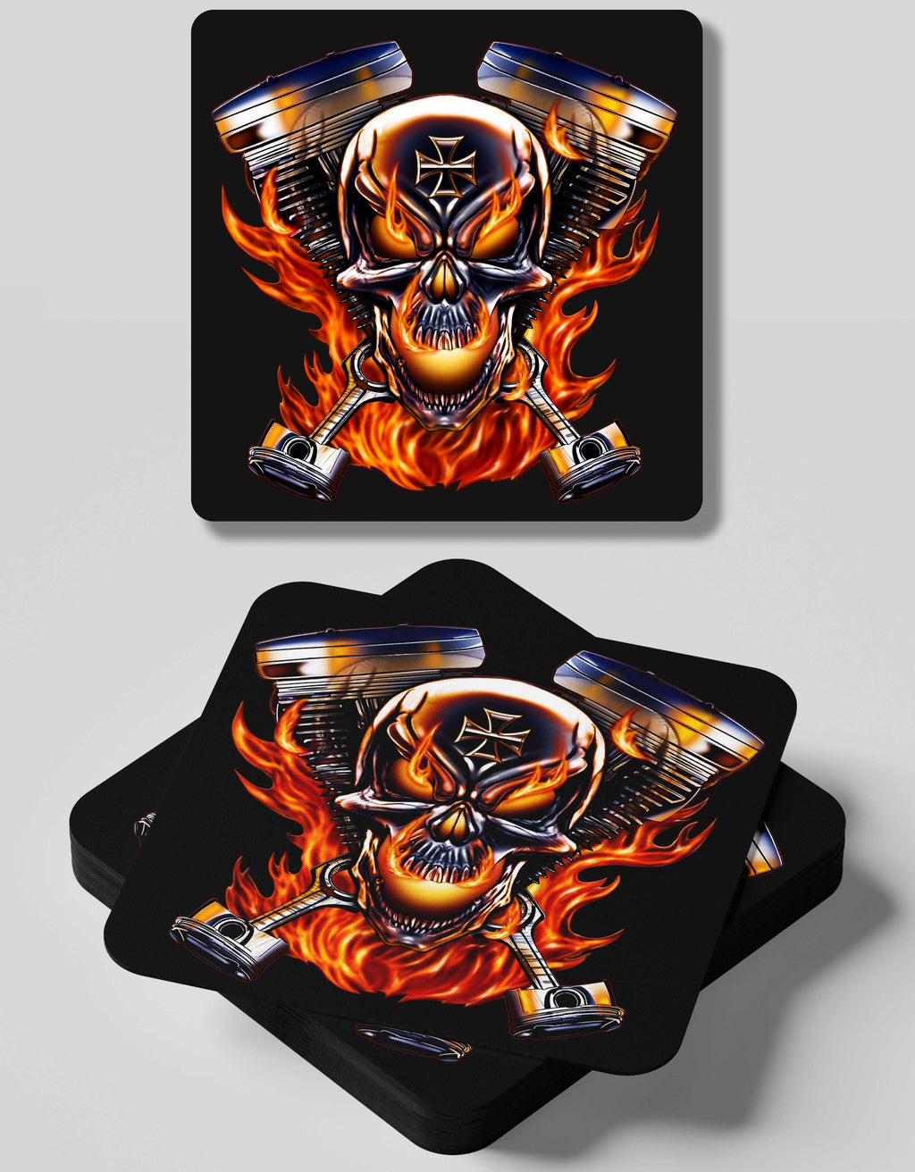 V-Twin Engine-4  Coasters Set