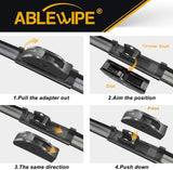 "Windshield Wiper Blades fit for Chevrolet Silverado 1500 2012 22"" + 22""  Wiper Blade (SET of 2)"