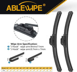 "Windshield Wiper Blades fit for Audi A3 2011 24"" + 19""  Wiper Blade (SET of 2)"