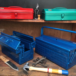 Trusco toolboxes available in different sizes and colours from Tinker and Fix