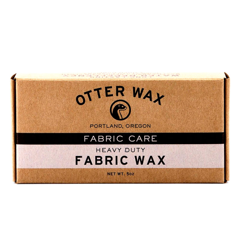 Bar of Otter Wax fabric wax in brown cardboard box