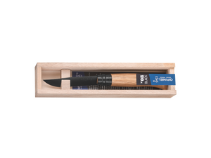 Opinel Black No 8 Oak Pen Knife Gift Set