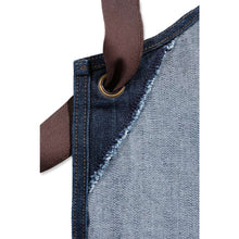 close up image of inside of Carharrt denim apron strap