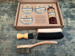 Otter Wax Leather Care Kit & Brushes