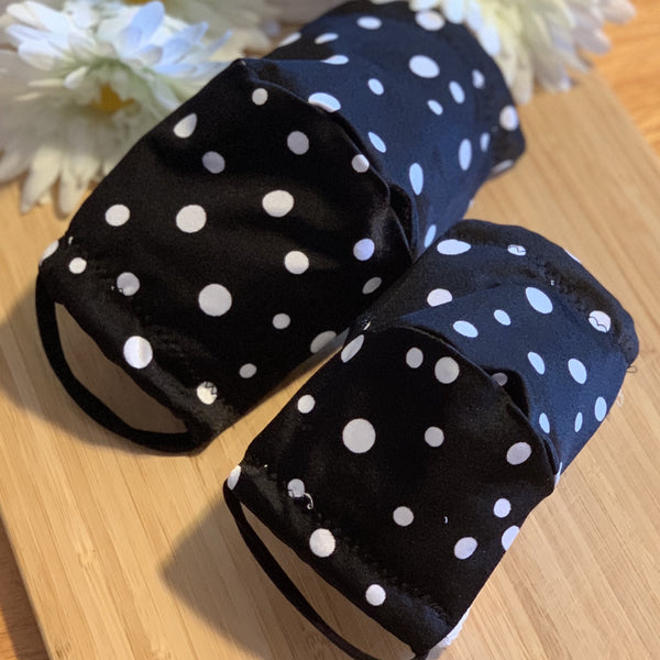 Polka dot Black Mask - KDesign Fitness