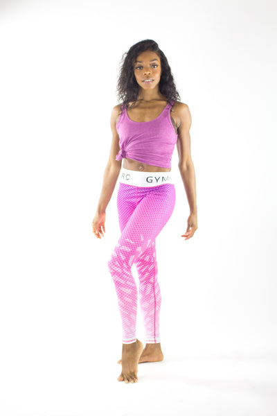 Sports Pink Ombre Leggings - KDesign Fitness