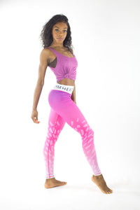 Sports Pink Ombre Leggings