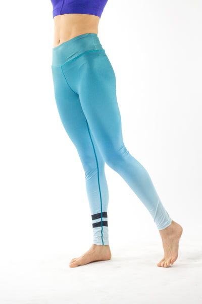 Ombre Two Lines Turquoise Legging - KDesign Fitness
