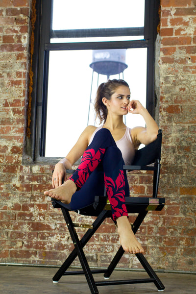 Red Hibiscus Soft Leggings - KDesign Fitness