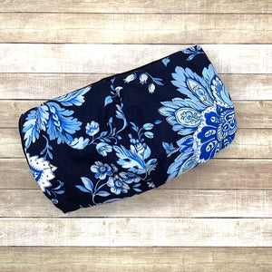 Navy Big Flowers Mask - KDesign Fitness