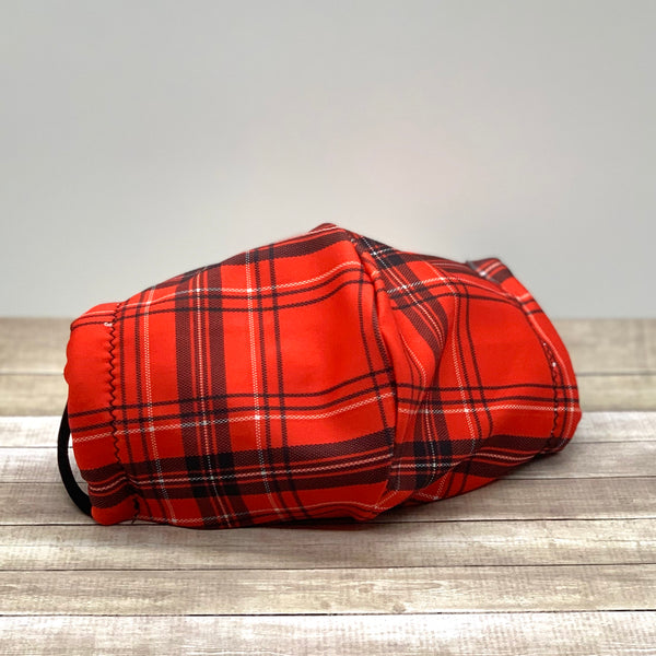 Red Plaid Mask - KDesign Fitness