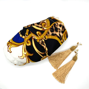 Gold Mask and Earrings Set - KDesign Fitness
