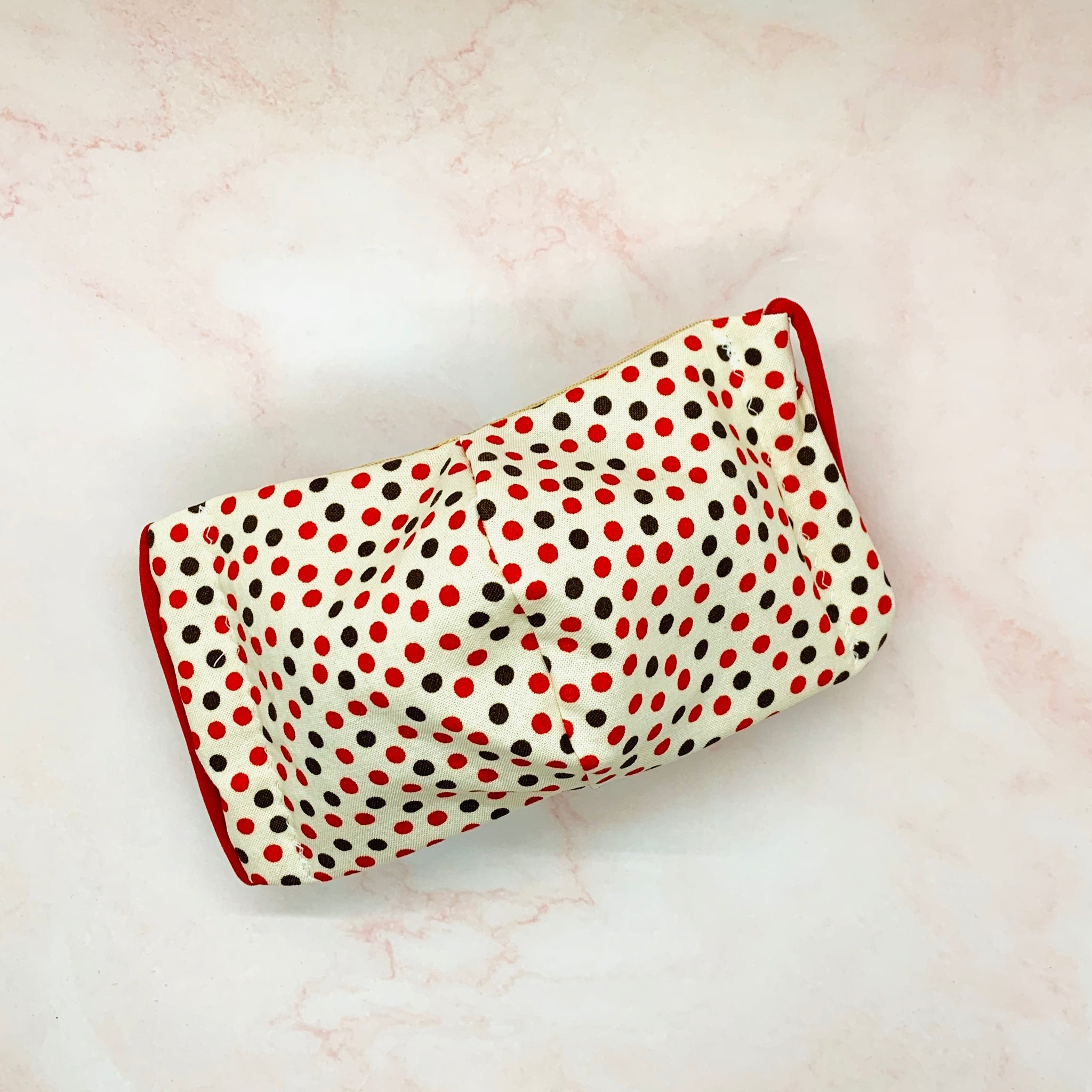 Red Brown Polka Dots Mask - KDesign Fitness