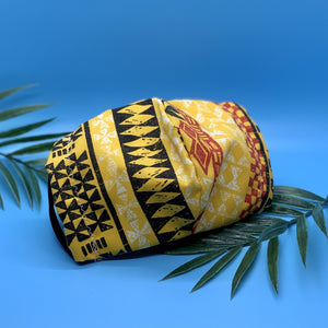 Hawaiian Yellow x Red Geometric Mask - KDesign Fitness
