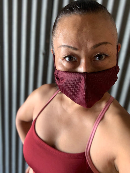 Athlete Burgundy Mask - KDesign Fitness