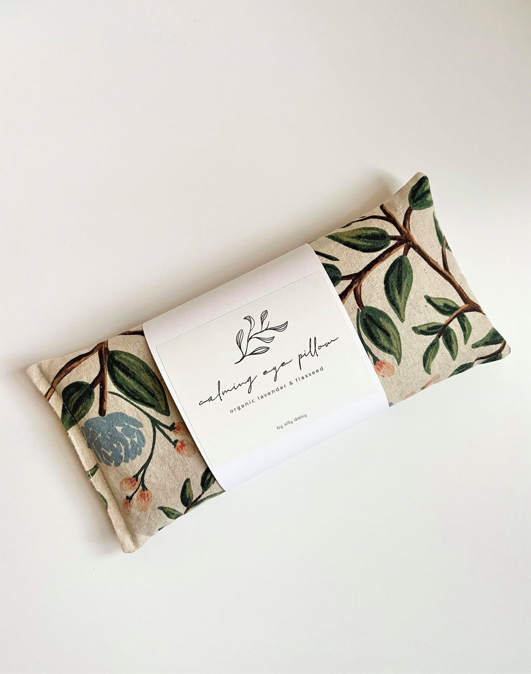 Organic Calming Eye Pillow - Cream Peony