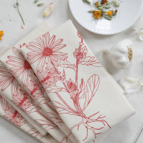 Set of 4 Organic Cloth Napkin - Calendula