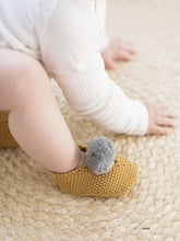 Load image into Gallery viewer, Alimrose Baby Pom Pom Slippers - Butterscotch (3-6MTHS)
